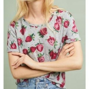 🍓Anthropologie Maeve Strawberry Fields Top